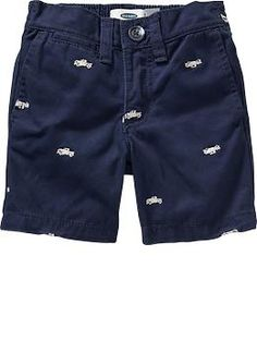 Embroidered-Pattern Twill Shorts for Baby