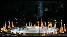 Ice skating, Central Park Christmas time. Wollman rink!