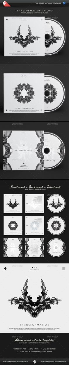 Chillout Trilogy vol3 - CD Cover Templates Bundle Cd cover - psd album cover template
