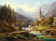 The Parish Church in the Ramsau puzzle in Piece of Art jigsaw puzzles on TheJigsawPuzzles.com. Play full screen, enjoy Puzzle of the Day and thousands more.