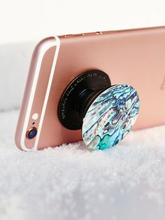 Pop Socket Phone Mount | This easily collapsible mount sticks on to phones, tablets and cases and can be re-positioned to prop up a device or to give you a better grip. Each one features a cute print.