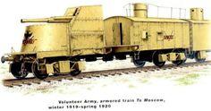 "Oktober Revolution Volunteer Army Armoured Train/Gun Wagon ""To Moscow""."