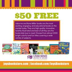 Giveaway time – Enter to win a $50 gift Certificate to Usborne Books!