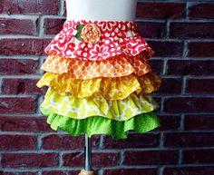 StarburstLittle girl ruffle twirl skirt size 4 by PaisleyPockets