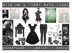 """""""Undertaker"""" by laughingjacksdaughter ❤ liked on Polyvore featuring MACBETH, Gasoline Glamour, Sweet Romance, Kate Spade, Hot Topic, anime, BlackButler, Undertaker and AdrianCrevan"""
