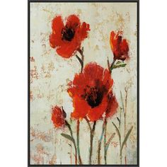 PTM Images Crimson Poppies II Framed Painting Print on Canvas