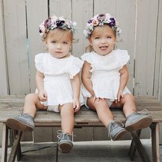 Twin Baby Girls, Twin Babies, Baby Girl Newborn, Cute Twins, Cute Babies, Toddler Fashion, Kids Fashion, Fashion Clothes, Tatum And Oakley