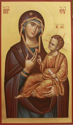 Theotokos Religious Images, Religious Icons, Religious Art, Madonna, Greek Icons, Sign Of The Cross, Art Populaire, Byzantine Icons, Art Icon