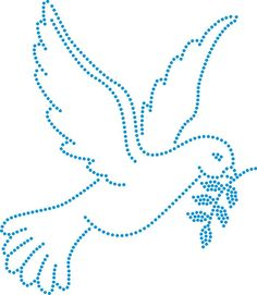 Dove Embroidery Cards, Embroidery Stitches, Hand Embroidery, Embroidery Designs, Applique Patterns, Beading Patterns, Stitch Patterns, Pvc Pipe Crafts, Rhinestone Art