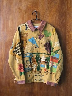 Retro Outfits, Cute Casual Outfits, Custom Clothes, Diy Clothes, Look Cool, Aesthetic Clothes, Ideias Fashion, Textiles, Menswear