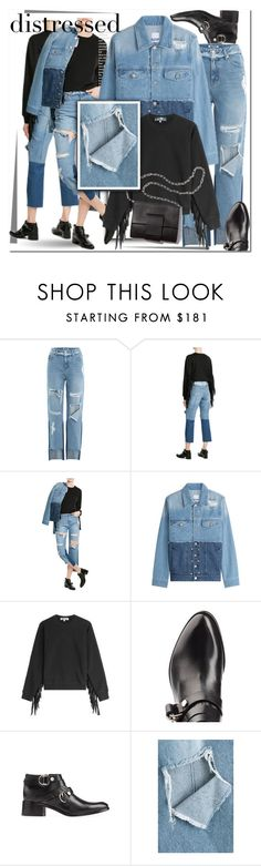"""Distressed Denim"" by ilona-828 ❤ liked on Polyvore featuring SJYP and MM6 Maison Margiela"