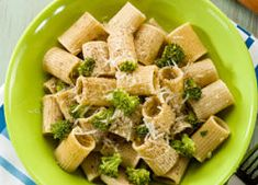 Pasta with broccoli and parmesan cheese