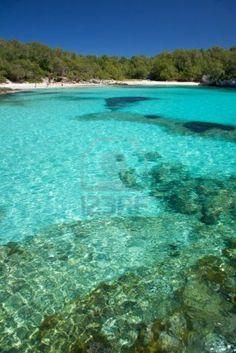 Playa Turqueta en la isla de Menorca en España