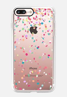 Buy Colorful Confetti Party Explosion Transparent iPhone 7 Plus Classic Grip Case by Organic Saturation at CASETiFY. Slim Iphone Case, Diy Phone Case, Iphone 7 Plus Cases, Iphone Phone Cases, Iphone Case Covers, Iphone 6, Casetify Iphone 7 Plus, Cool Cases, Mobile Cases