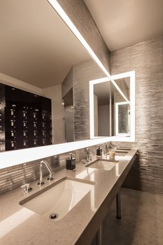 Executive restroom Great design and use of space Clear space