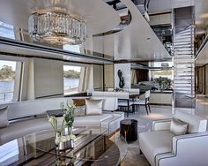 The UK's Redman Whiteley Dixon has been helping clients realize their interior dreams for more than two decades. Banner: A stunning design concept by Netherlands-based Sinot Exclusive Yacht Design. Luxury Yacht Interior, Boat Interior, Luxury Yachts, Luxury Homes, Interior Walls, Luxury Jets, Yacht Design, Boat Design, Design Design