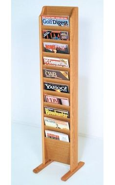 Wall Mounted Wooden Leaflet Holder H L101 Wall Mounted