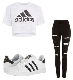 """Untitled #56"" by changeme2003 on Polyvore featuring Topshop and adidas"