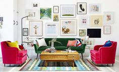 Step away from the catalogs! Get happy in your home by adding pieces that reflect your unique personality. A couple of ideas: decorate with flea market finds that no one else has and collections from your travels. Even touches like furniture with curved edges will make a difference.  Source: Domino