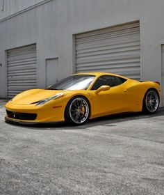 Yellow Ferrari 458 Italia #CarFlash