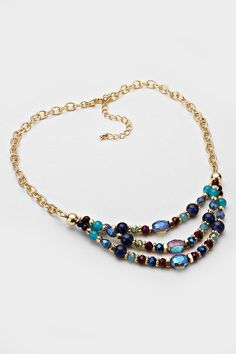 Crystal Adette Necklace in Vitrail Sapphire on Emma Stine Limited