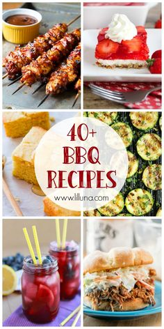 40+ BBQ Recipes - a