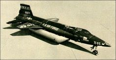 First flight of the North American X-15 rocket-powered aircraft/spaceplane 8/6 1959.