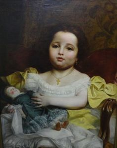 Claude Jacquand (1804-1878) , with a doll