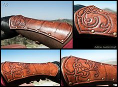 Renaissance Style Bracers - Reddish Brown Version by *Adhras on deviantART