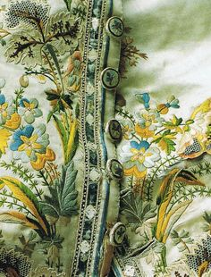 Embroidered silk gentleman's waistcoat… mid to late 18th century.