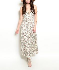 Another great find on #zulily! White Floral Maxi Dress by Shop the Trends #zulilyfinds