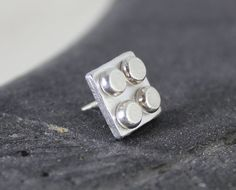NEW LEGO® inspired tie pin handmade sterling silver by wearthou