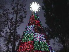 Silver Dollar City Christmas Lights in the Ozark Mountains Near Branson, MO