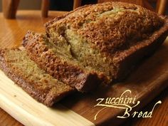 Zuchinni Bread 3 eggs 1 cup oil 2 cups sugar 2 cups shredded zucchini 3 tsp vanilla 3 cups flour 1 tsp salt 1 tsp baking soda 1/4 tsp baking powder 3 tsp cinnamon 1/2 cup nuts (optional) Directions Grease or flour two bread loaf pans. Preheat oven to 325 degrees. Mix all ingredients together and bake for one hour. This recipe does make two loaves