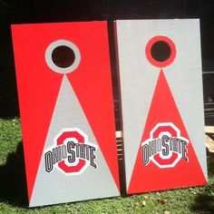 NEW BIRCH OHIO STATE  University OSU BUCKEYES CORNHOLE  BOARDS BEAN BAG TOSS | the Ohio St Collectionary