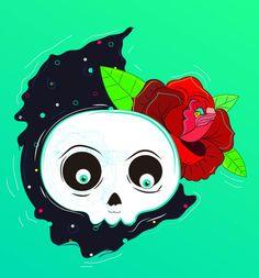 #illustration #skull #space #vector