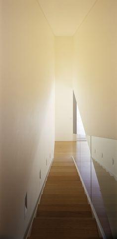 wood stairs modern plexiglass