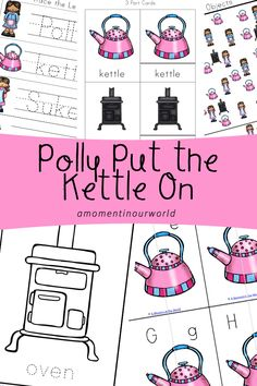 The next nursery rhyme that I have created a printable pack for is Polly Put the Kettle On. It is said that this nursery rhymewas based on the author's five children: two boys and three girls. When the girls wanted to play without their brothers, they would pretend to start a game of tea party. …