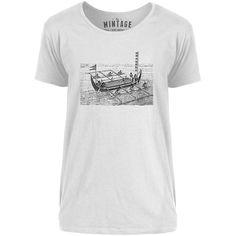 Mintage Vintage Victorian Boat Mens Scoop Neck T-Shirt