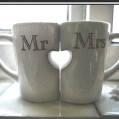 Coffee Mugs! Oh my goodness, these are the most awesome coffee mugs ever! I love our Mr & Mrs mugs from our wedding, but these are sweet! Mr Mrs, Just In Case, Just For You, Cadeau Couple, Tadelakt, Before Wedding, Cute Mugs, I Got Married, Married Life