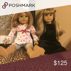 American Girl Dolls Sold separately or together. Price is per doll. Doll on left strawberry blond, blunt cut hair. Right doll long blond hair with bangs. Both wearing authentic AG clothes, included. American Girl Other