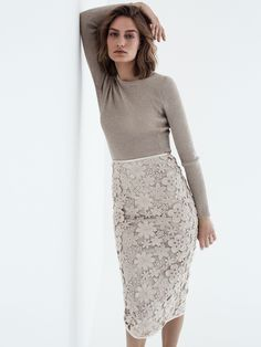 Olivia - wool flowers created using three-dimensional embroidery, makes this pencil skirt a key wardrobe staple - Swiss made Rock, Summer Shoes, Wardrobe Staples, Fashion Shoes, Sequin Skirt, High Heels, Fashion Design, Fashion Trends, Three Dimensional
