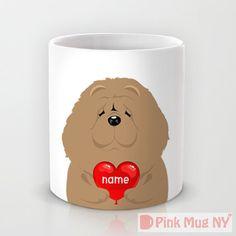Personalized mug cup designed PinkMugNY I love you by PinkMugNY
