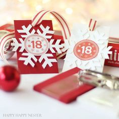 DIY Advent Tree uses