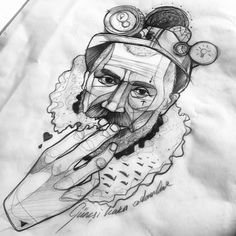 Günesi kara adamlar.. #mine #worker #miner #sketch #wanna #tattoo #it #man #sketch #dövme #illustration #berlin #istanbul
