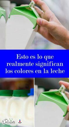 Esto es lo que realmente significan los colores en la leche