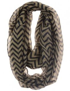"Cotton Cantina Soft Chevron Sheer Infinity Scarf, $12.95. Sally said... ""If you're looking for an inexpensive, fashionable infinity scarf, here it is. These scarves of made of very lightweight material, but fluff up nicely."""