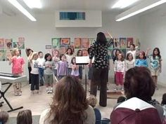 Some kids choir warm-ups, love the solfedge and rhythm game at the end, may add this to my general music class warm-ups!
