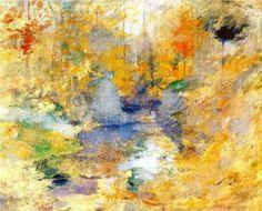 Hemlock Pool (aka Autumn) - John Henry Twachtman, 1894
