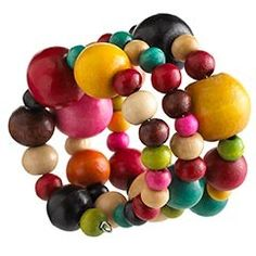 Perfect Holiday Bracelets Multi-Color Wood Beads Napkin Ring review at Kaboodle